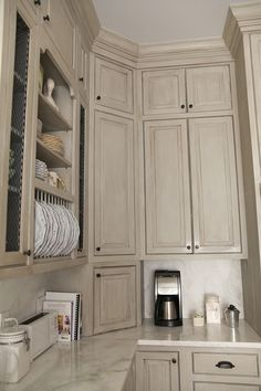 Good examples of aging furniture & cabinets with glaze
