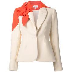 Delpozo Damen Taillierter Blazer mit Blumenapplikationen - reduziert (155.085 RUB) ❤ liked on Polyvore featuring outerwear, jackets, blazers, pink jacket, blazer jacket, pink blazer and pink blazer jacket
