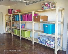 Free DIY Woodworking Plans for Building a Shelf: Ana White's Free Garage Shelving Plan
