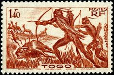 - Archery on Stamps - Stamp Community Forum - Page 8 French Guinea, World Wild Life, French West Africa, French Colonial, Tonga, France, Ivory Coast, Stamp Collecting, Postage Stamps