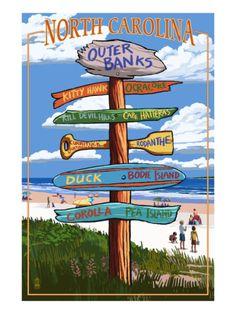 Outer Banks, North Carolina - Sign Destinations