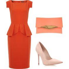 Orange peplum by sassycurls, www.SassyCurlsblog.com