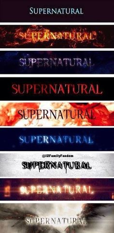 Supernatural through the years. What can I say? It makes my inner budding nerd graphic designer happy. #Supernatural