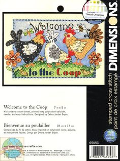 Dimensions Minis - Welcome to the Coop - Cross Stitch World