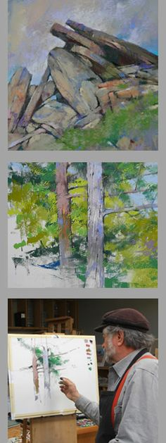 Albert #Handell instructional videos. Let Albert teach you how to paint better trees and #rocks in the #pastel medium.