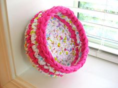 Crocheted Rag BowlHandmadePink and by RoseJasmine on Etsy
