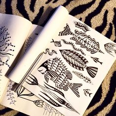 #fish #pattern pages from my #doodle book. #SuzanneCarpenter