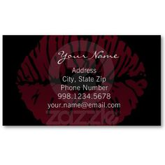 Just a Kiss Business Card