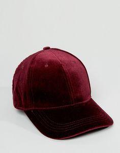 Image 3 of New Look Velvet Cap Gorro Con Visera 770ae0ab390
