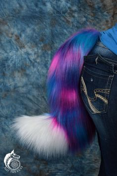 Cotton Candy Wolf Tail by JustFurKicks on Etsy
