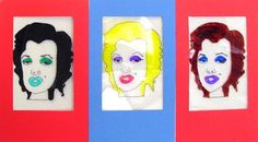 Andy Warhol's repetitive style is fun to duplicate and the perfect example for students to create their own repetitive drawings.