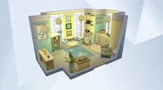Check out this room in The Sims 4 Gallery! - Bunny themed bedroom for a baby. #babyroom #pastels #bunny