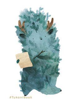 forest habitant - firtree tukoni from TukoniBook Forest Illustration, Cute Illustration, Character Illustration, Cute Monsters, Illustrations And Posters, Art World, Art Inspo, Illustrators, Images