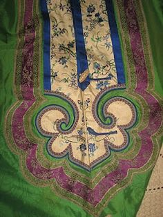 nice detailing hand stitched silk kimono Southern Folk Artist & Antiques Dealer/Collector: