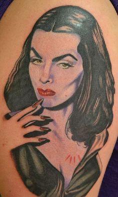 Vampira. Done by Erikka James @ Incognitto Tattoo