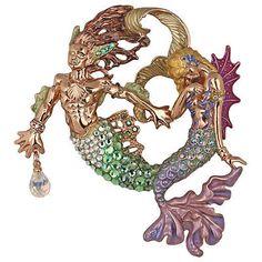 NEW KIRKS FOLLY RIPTIDE & DREAMY MERMAID PIN ENHANCER Weird Jewelry, I Love Jewelry, Jewlery, Mermaid Under The Sea, Mermaid Jewelry, Merfolk, Metal Clay, My Happy Place, Fashion Watches