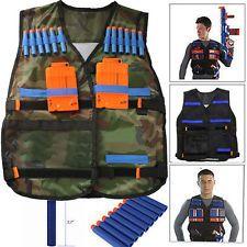 Adjustable Tactical Vest with Storage Pockets for Nerf N-Strike Elite Team Toy