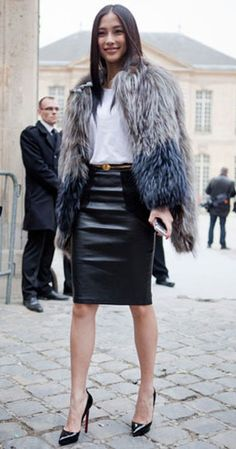 10 Ways To Wear A Fur Vest | Fashion Inspiration Blog