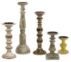 IMAX Kanan Wood Candleholders In Distressed Finishes , Set of 5 IMAX,http://www.amazon.com/dp/B003XZVNJG/ref=cm_sw_r_pi_dp_Ksc1sb0JEVRHPVNR