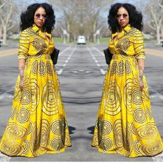 "61 Likes, 4 Comments - HvM (@heav_merchants) on Instagram: ""Y'HELLOW as bright as the sun. #tribalprints #maxidress #African Prints #African Prints Enthusiast…"""