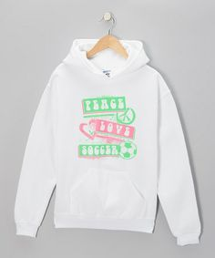 Take a look at this White 'Peace' Hoodie - Girls & Women by Dance World Bazaar on #zulily today!