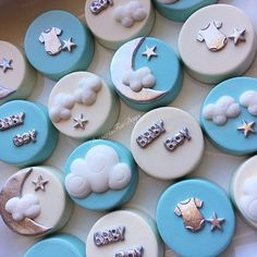 1dz. Baby Themed Covered Oreos. Twinkle Twinkle Little Star Theme. Baby Shower Oreos. Baby Shower Co