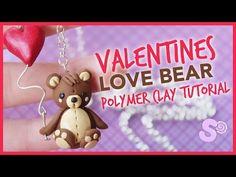 Valentine's Love Bear w/ Balloon polymer clay tutorial