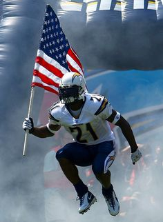 One of the best memories is going to the live games in SAN DIEGO with my man and watching them run out after LT with the flag...best memories
