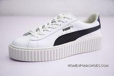 Rihanna X Puma Fenty Suede Cleated Creeper 364462-01 WHITE BLACK Discount