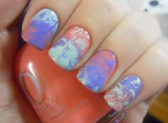 Holy Manicures: Gradient and Splatter Nails.
