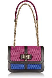Sweet Charity small bow-embellished leather and mesh shoulder bag