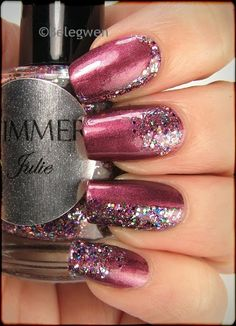 Nail Art by Belegwen: Shimmer Polish: Julie
