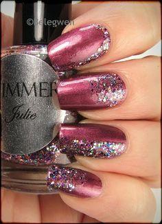 Nail Art by Belegwen: Shimmer Polish: Julie