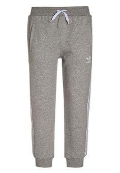 Bestill  adidas Originals Treningsbukser - medium grey heather/white for kr 449,00 (16.04.17) med gratis frakt på Zalando.no