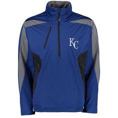 Kansas City Royals Antigua Discover Half-Zip Jacket - Royal - $84.99