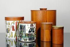 Vintage JIE Gantofta Storage Jar Box Teak Pottery Sweden Design Anita Nylund