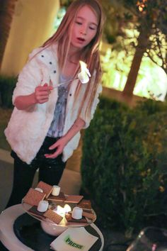 All ages can roast s'mores on the PRESS patio at Four Seasons Hotel Las Vegas. My daughter loved this while we enjoyed a glass of wine by the fire. Perfect outdoor ambience.