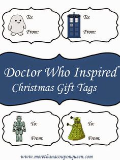 Free Doctor Who Inspired Gift Tags