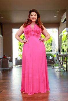 1b68344c3 Vestido longo rosa - Saia Justa - Vestidos e Acessórios - Curitiba