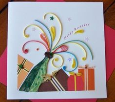 Pop It Birthday Quilling Card