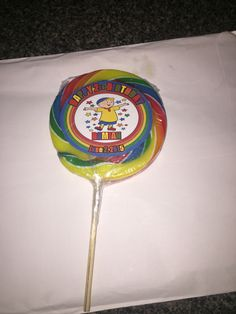 Lollipop with Damian Birthday Lable