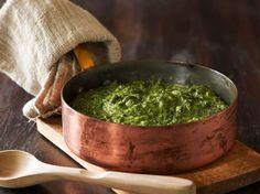 grønlangkål - stewed kale (recipe in Danish)