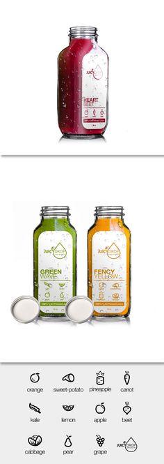 Cold Pressed Juice Label Bottle Design