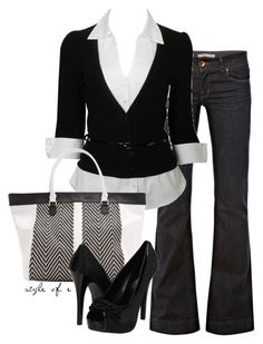 Black and White by styleofe on Polyvore featuring Forever 21, J Brand, Call it SPRING and MANGO