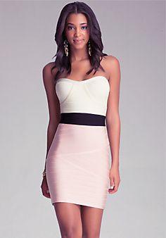 Studded V-Back Dress www.bebe.com | Need Love Want | Pinterest ...