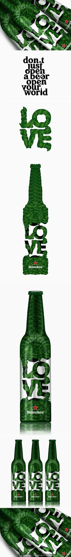 Heineken bottle design for Trafiq Bar & Club