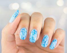 Imagine nail art, nails, and watercolour Watercolor Effects, Watercolour, Natural Nails, My Nails, Nail Designs, Polish Nails, Nail Art, Manicures, Stamping