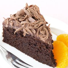 Chocolate Orange Cake! Easy to make and a little healthier than usual
