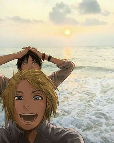 This makes me so happy! Eren and Armin finally got to see the ocean!!