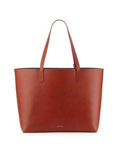 Mansur Gavriel | Large Leather Tote Bag with Coated Interior #mansurgavriel #tote #bag